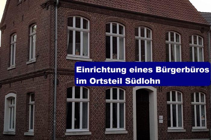Einrichtung eines Bürgerbüros im Ortsteil Südlohn
